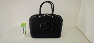 Armani Jeans Carry Bag black-silver-colored