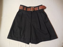 Gaddis High-Waist-Shorts black wool