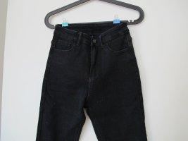 Schwarze high-waist Skinny Jeans
