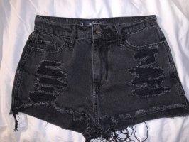 schwarze Hollister Jeansshort