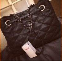 abro Carry Bag black-silver-colored leather