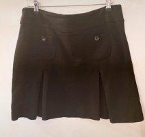 casual Plaid Skirt black