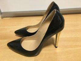 Classic Court Shoe black-dark yellow mixture fibre