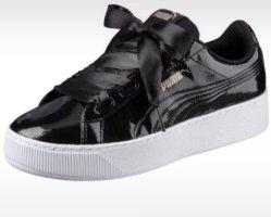 Schwarze Lack sneaker mit Schleife Puma