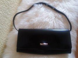 Schwarze Lackleder Clutch von Longchamp, ungetragen