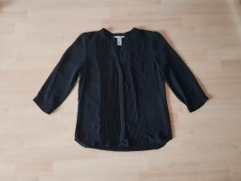 schwarze Langarmbluse von H&M