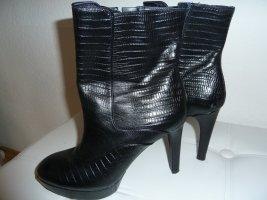 Schwarze Leder Stiefeletten Rockport