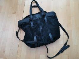Schwarze Lederhandtasche (Kiomi)