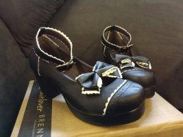Pumpy Mary Jane  biały-czarny
