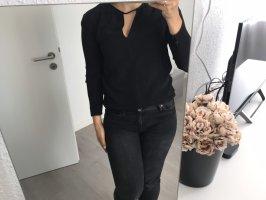 Schwarze Mango Cut out Bluse