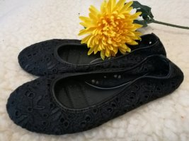 schwarze Marco Tozzi feel me Ballerinas flache Schuhe Spitzenschuhe