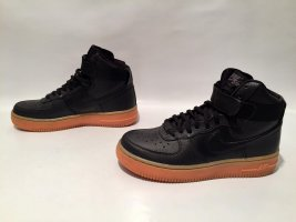 Schwarze Nike Air Force 1 Hightop Sneaker Gr.36,5