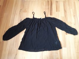 Schwarze Offshoulder-Bluse