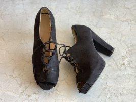 Schwarze Peeptoe High heels von H&M Gr. 38