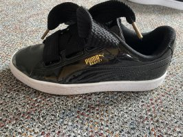 Puma Basket à lacet noir-doré
