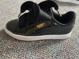 Schwarze Puma Basket Schuhe 36