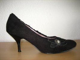 schwarze pumps buero deichmann graceland gr. 38 wie neu blume