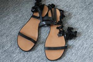 Sandales à lanière noir
