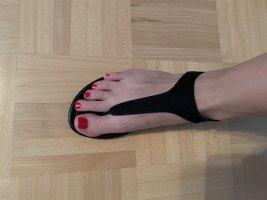 Graceland Sandalo toe-post nero