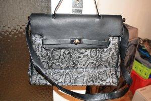 Schwarze Schlangenoptik Tasche von Marina Galanti