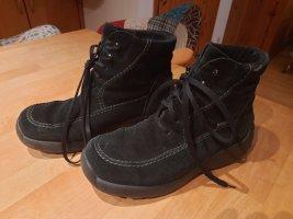 Gore Tex Bottes à lacets noir tissu mixte