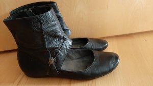 Empodium Bottine ajourée noir cuir