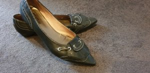 Donna Carolina Moccasins black leather