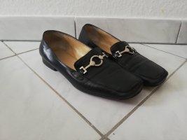 Zapatos formales sin cordones negro-color plata