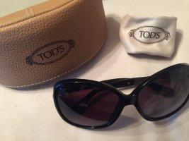 Schwarze Sonnenbrille von Tod's original mit Lederetui