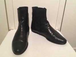 Schwarze Stiefeletten aus Leder von Claudia Obert in Größe 39