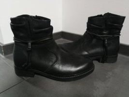 Schwarze Stiefeletten Gr. 38