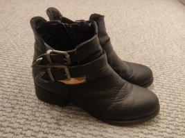 Brand Cut out boots zwart-zilver