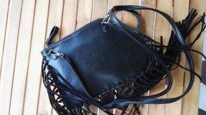 Schwarze Tasche Fransen Hippi Boho