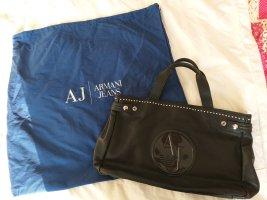 Armani Jeans Sac à main noir cuir