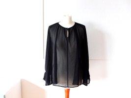 schwarze transparente Uniqlo Bluse Gr. M 40 42
