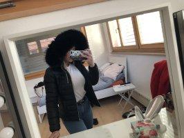 Schwarze We love furs Daunenjacke