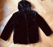 unbekannte Giacca in eco pelliccia nero