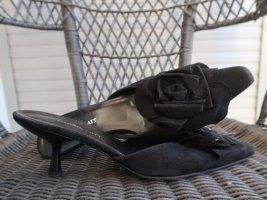 Carrie Latt Heel Pantolettes black leather