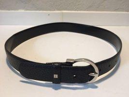 Aigner Cintura di pelle nero-argento