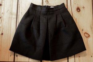 H&M Falda globo negro tejido mezclado
