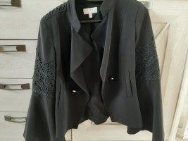 Schwarzer Blazer elegant S mit Spitze
