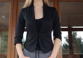 FB Sister Blazer in tweed nero