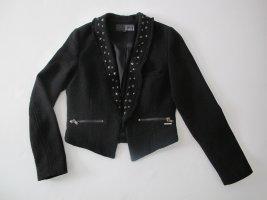 Schwarzer Blazer von Firetrap mit Nieten und fäden in Gr. S (36)
