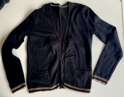 Schwarzer Cardigan mit Glitzer und Seitentaschen