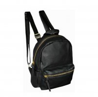Lucy School Backpack black-gold-colored polyurethane