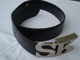 Schwarzer Designergürtel von Stephane Kélian