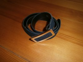 zaffiri Faux Leather Belt black-silver-colored imitation leather