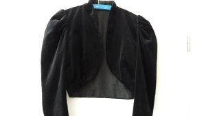 Boléro noir tissu mixte