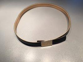 Rena Lange Leather Belt black-gold-colored leather