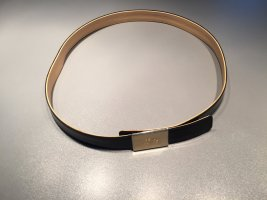 Rena Lange Cintura di pelle nero-oro Pelle